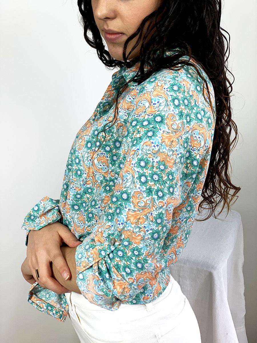 Chemise Nina, chemise en viscose à col ouvert, manches ajustables de Otez mode