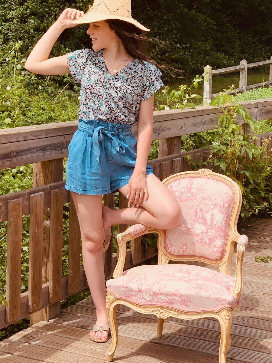 blouse femme à motif Alice, par la créatrice de mode Ô'tez