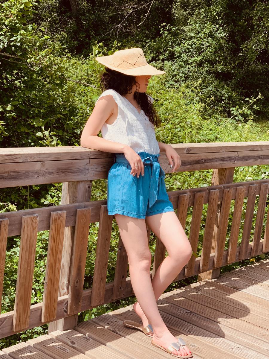 Blouse blanche sans manche maria, créatrice de mode, Ô'tez mode