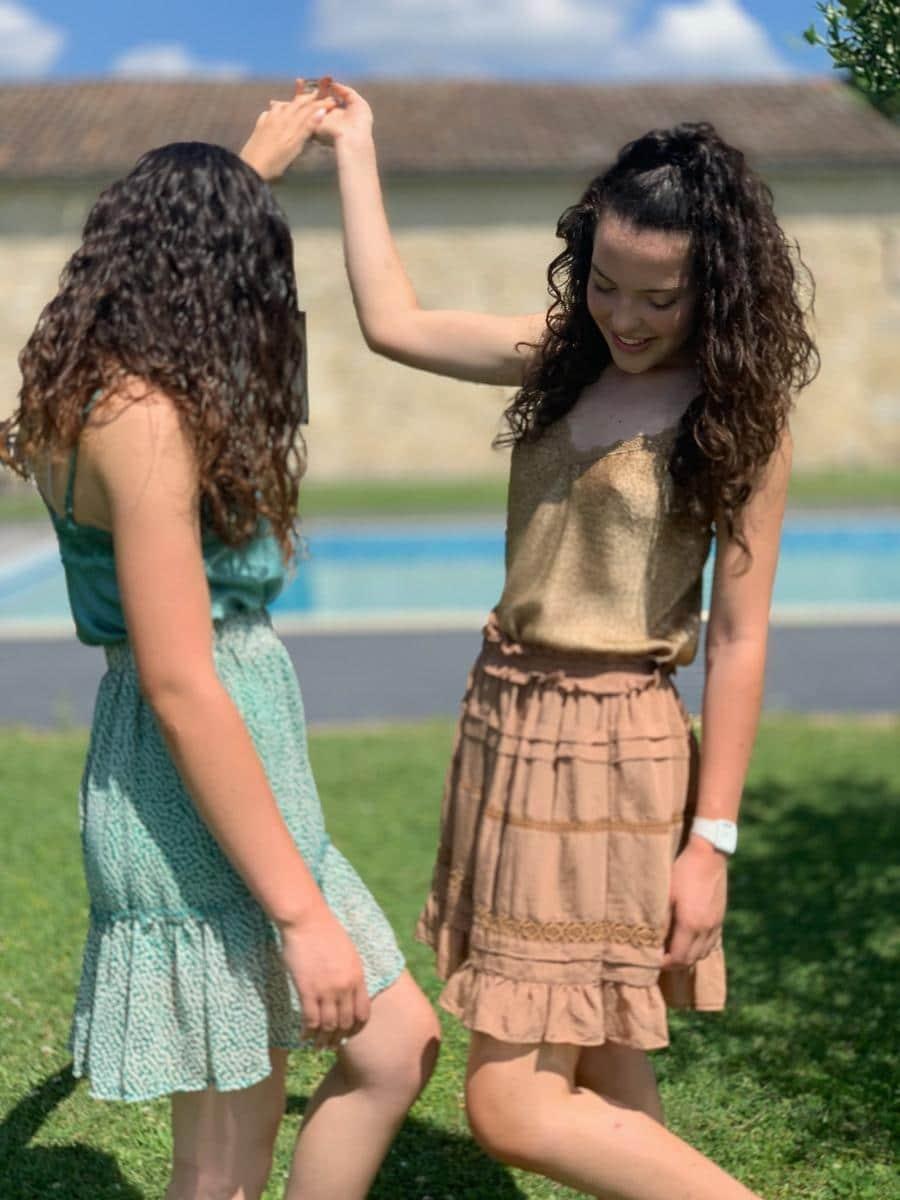 jupe courte fleurie modèle Luiz Ô'tez mode