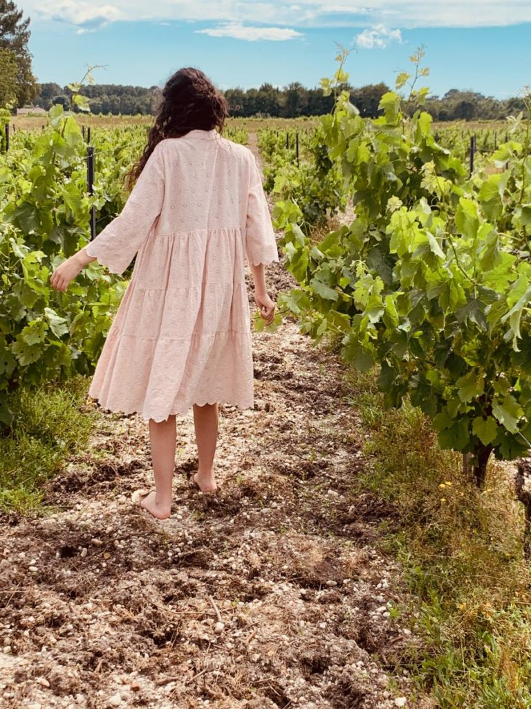 robe d'été Paula rose, robe de créatrice par Ô'tez mode