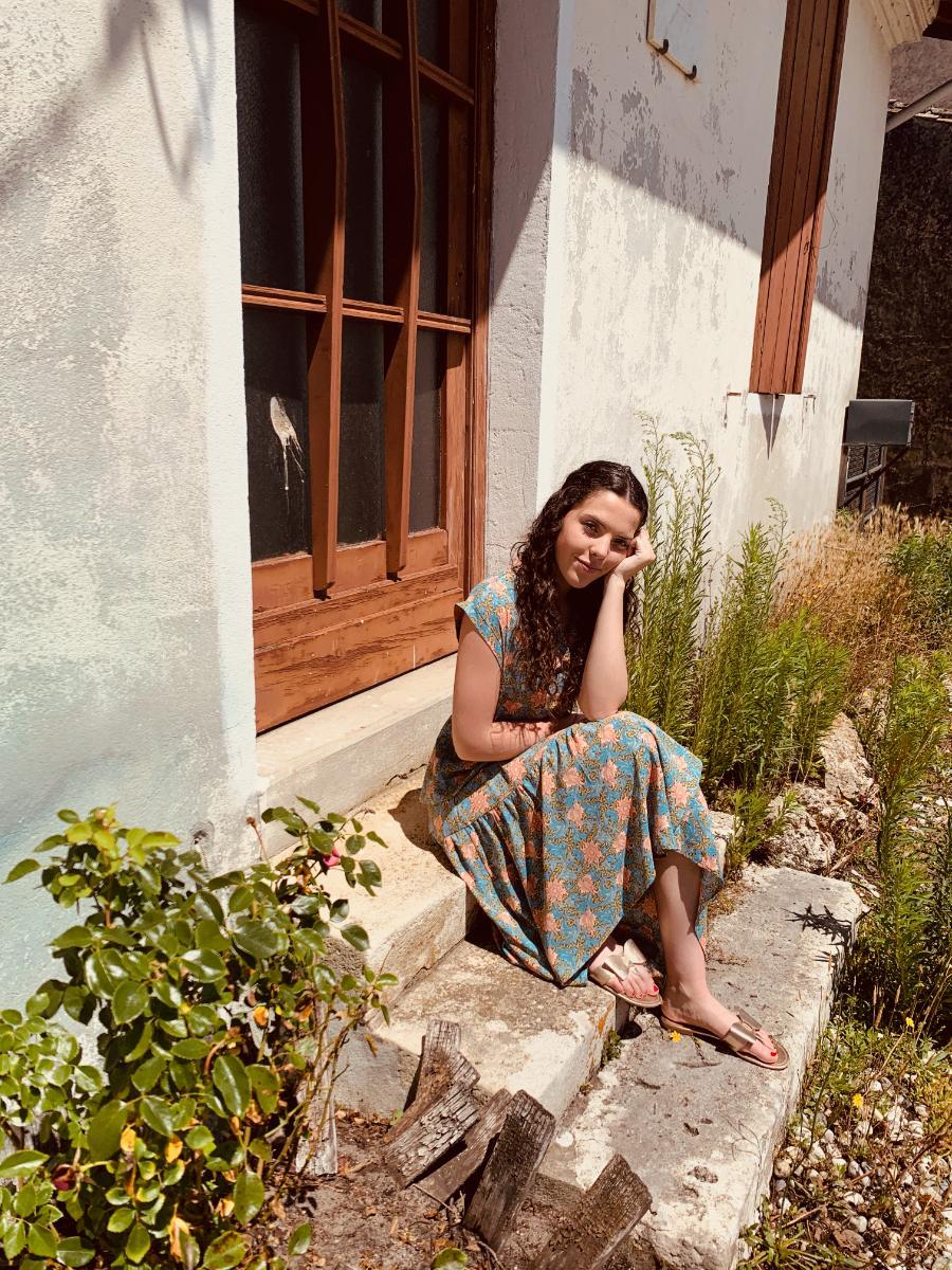 Robe grazi imprimée, robe d'été de créatrice Ô'tez mode
