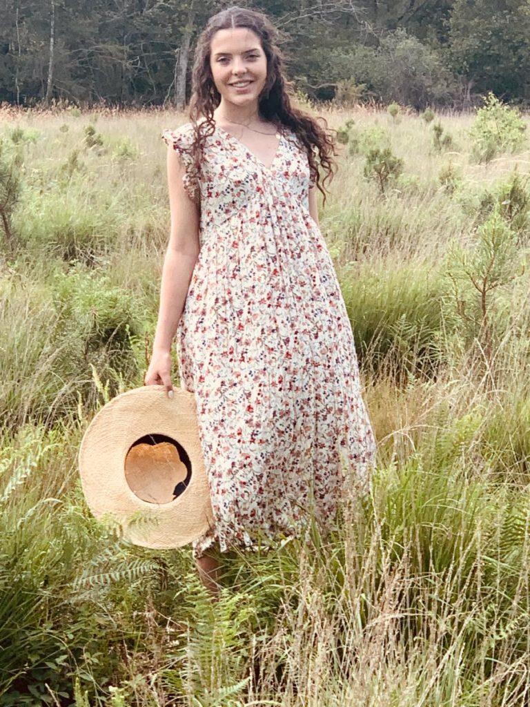 Robe imprimé fleuri lola créatrice de mode 'tez mode